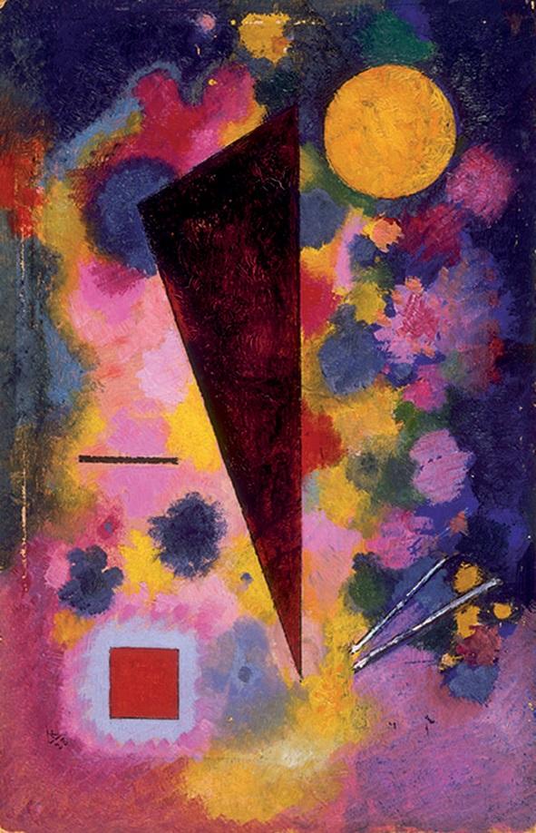 "Vasilij Kandinskij, ""Résonance multicolore"", 1928 (© Centre Pompidou)"