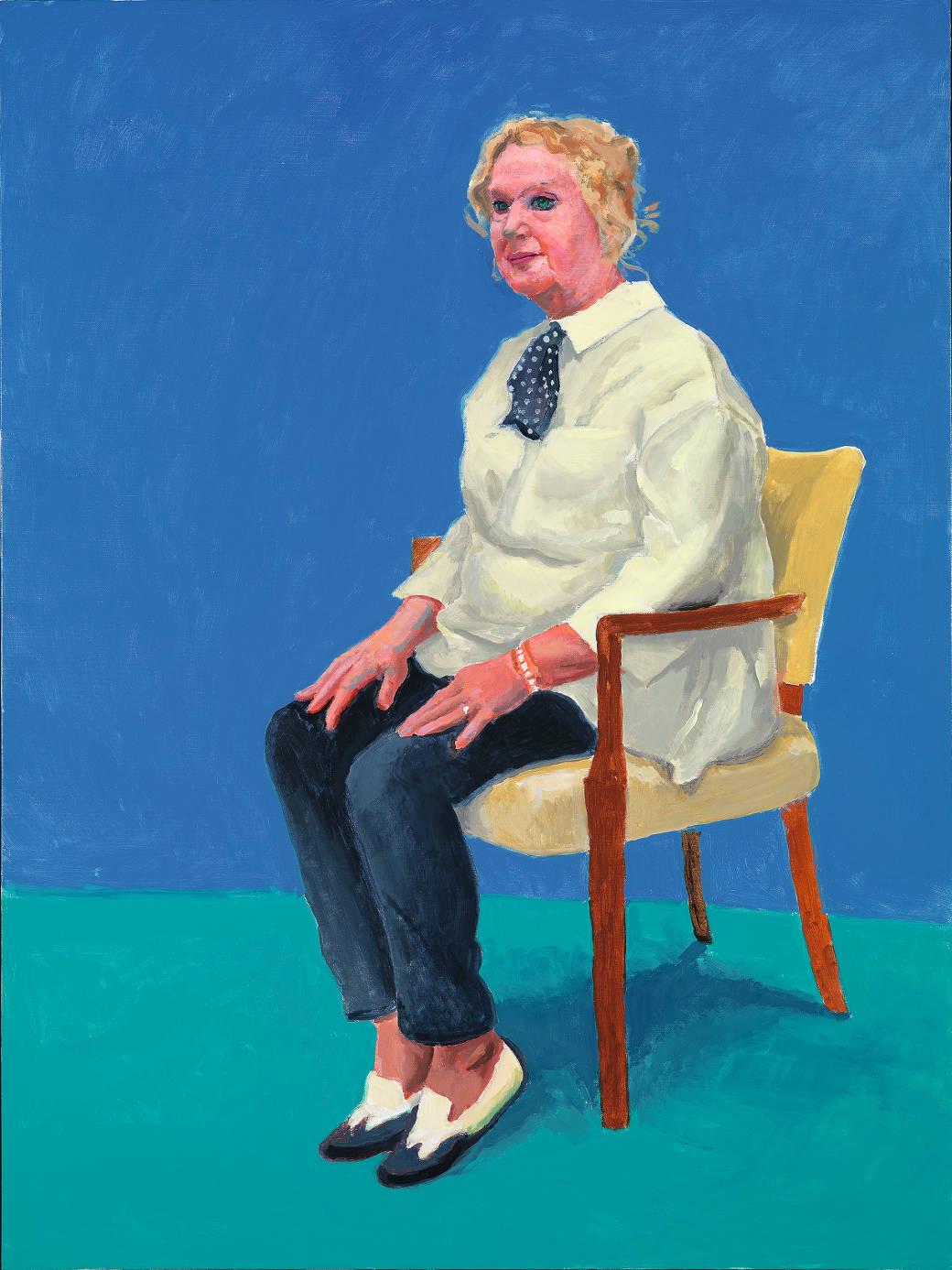 David Hockney, 'Celia Birtwell'(©David Hockney, foto Richard Schmidt)