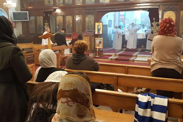 """La Divina Liturgia copta nella """"cittadella"""" della Cattedrale di San Marco (Foto Gambassi)"""