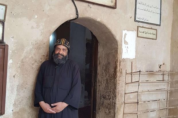 Un eremita del deserto nel monastero di San Bishoi (Foto Gambassi)