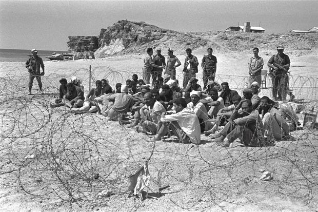 Prigionieri egiziani catturati vicino a Sharm el Sheikh nel Sinai meridionale, 8 giugno 1967 (Ufficio stampa del Governo israeliano)