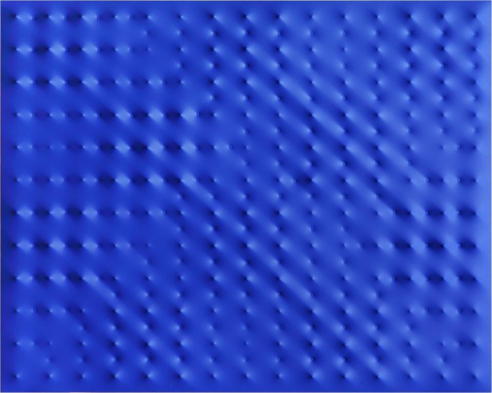 Enrico Castellani, 'Superficie blu', 2009, acrilico su tela