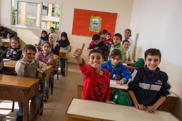"""Rmeyle, Libano. Una delle classi del centro socio educativo """"Fratelli Rmeyle""""."""