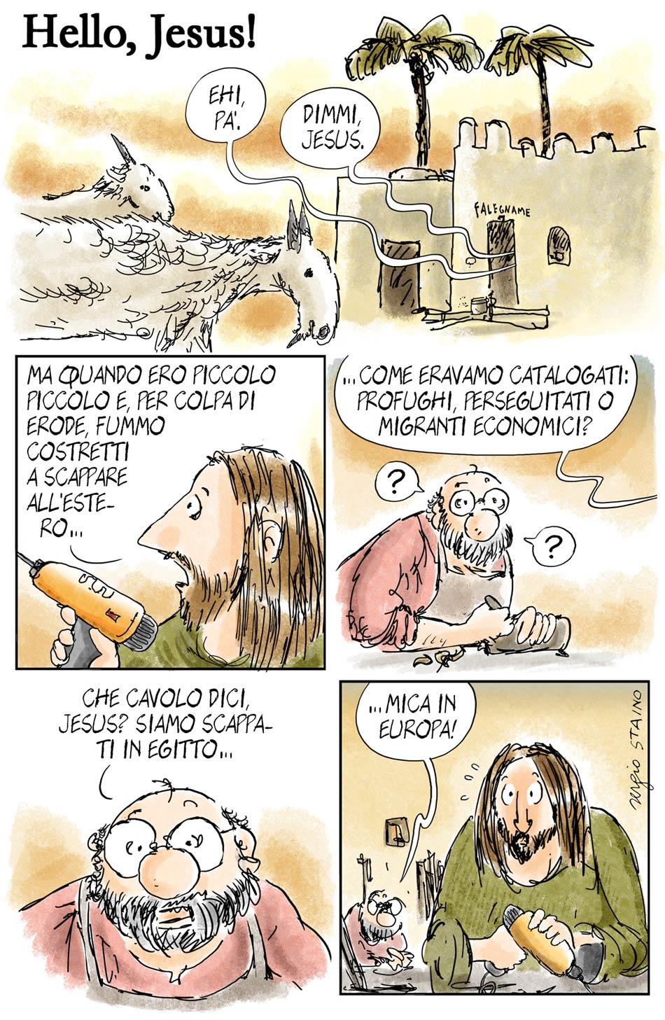La striscia 'Hello Jesus'