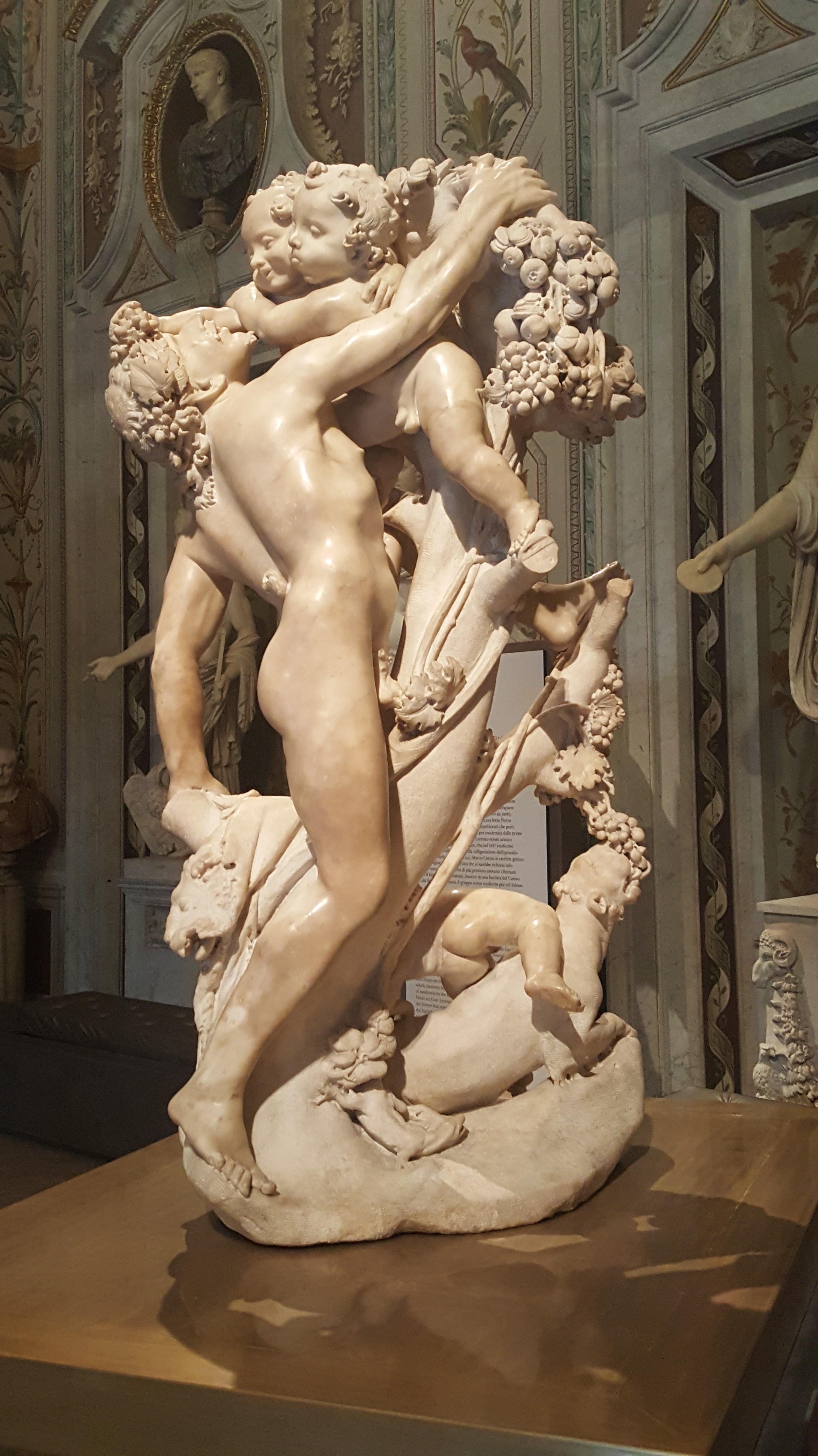 Pietro e Gian Lorenzo Bernini, 'Fauno molestato dai putti' (1615 circa). New York, Metropolitan Museum of Art