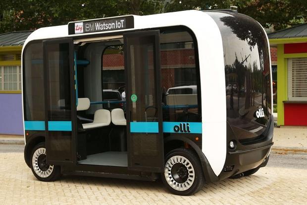 Olli, il minibus a guida autonoma di IBM