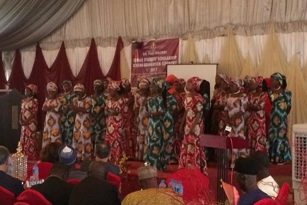 La cerimonia di diploma, ad Abuja, delle 42 ragazze sequestrate a Chibok e fuggite dai jihadisti di Boko Haram