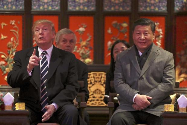 Trump e il leader cinese Xi (Ansa)