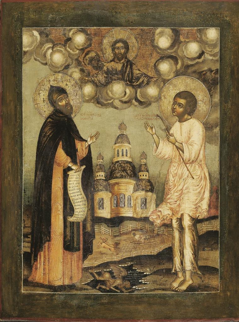 'Venerato Niphon di Cipro e pio Artemij di Verkola' (fine del XVII secolo)