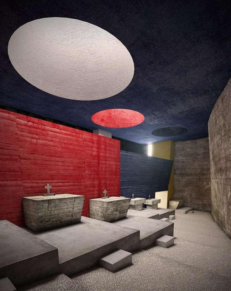 Gli altari laterali nella chiesa conventuale di La Tourette, di Le Corbusier