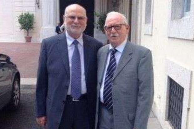I fratelli di padre Pino Puglisi, Francesco (e sinistra) e Gaetano