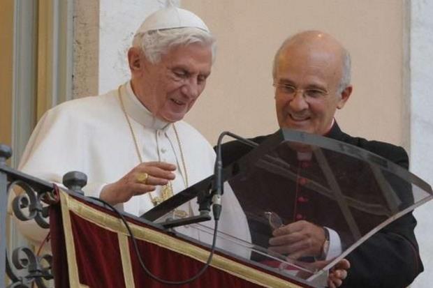 Benedetto XVI con monsignor Alfred Xuereb (Vatican News)