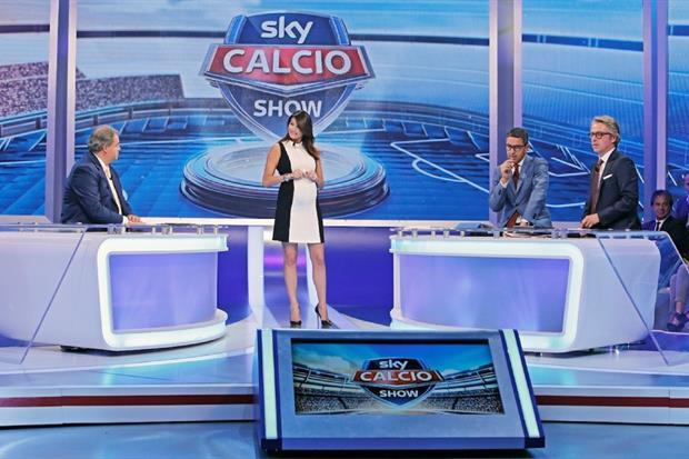 Un momento di Sky Calcio Show, trasmissione simbolo del calcio su Sky