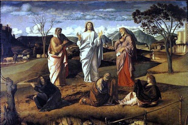 La 'Trasfigurazione di Cristo', dipinto di Giovanni Bellini nel Museo di Capodimonte a Napoli