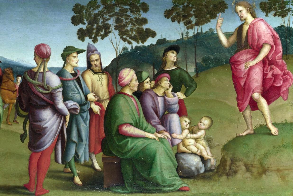 'La Predica del Battista' di Raffaello Sanzio alla National Gallery di Londra
