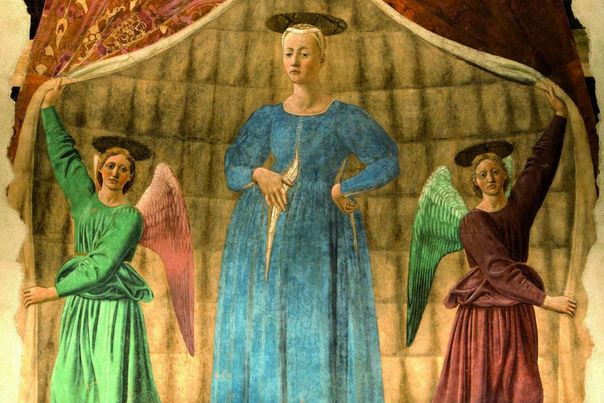 'La Madonna del parto' di Piero della Francesco a Monterchi (Arezzo)