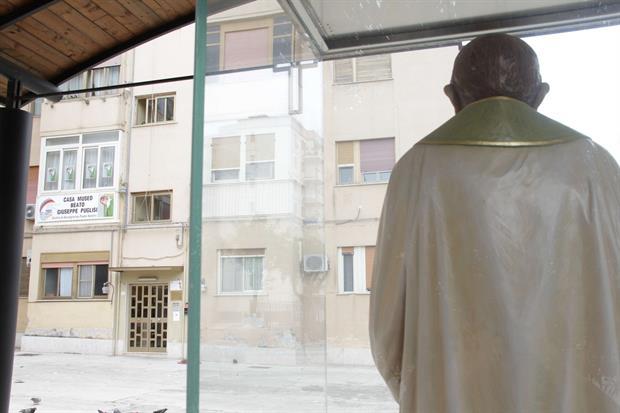 La casa-museo di padre Pino Puglisi a Brancaccio di fronte a cui il sacerdote è stato ucciso il 15 settembre 1993