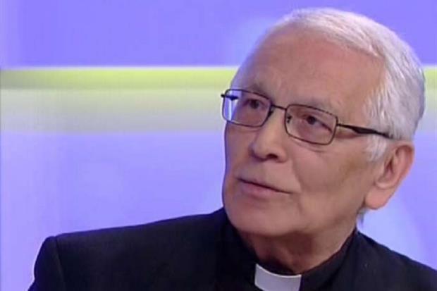 Padre Vittorio Trani, 74 anni, cappellano di Regina Coeli da 40 anni