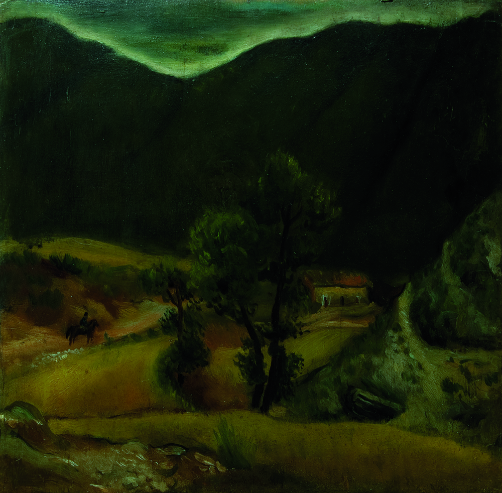 Scipione, 'Paesaggio con cavaliere'