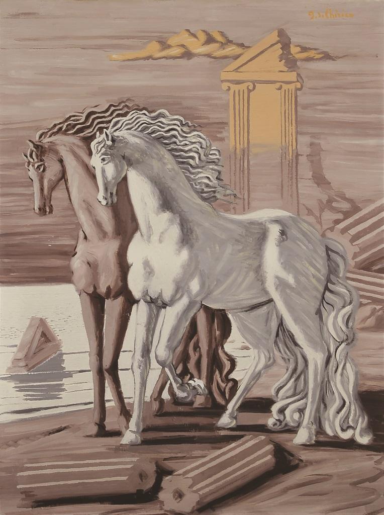 Giorgio de Chirico, 'Cavalli'