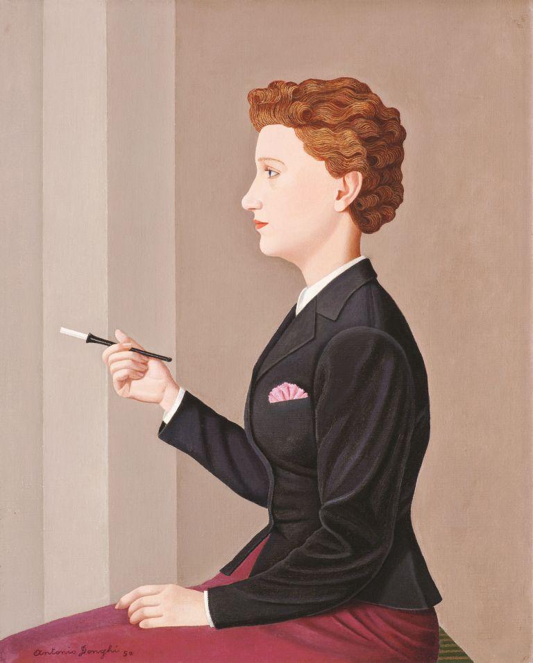 Antonio Donghi, 'La donna che fuma'