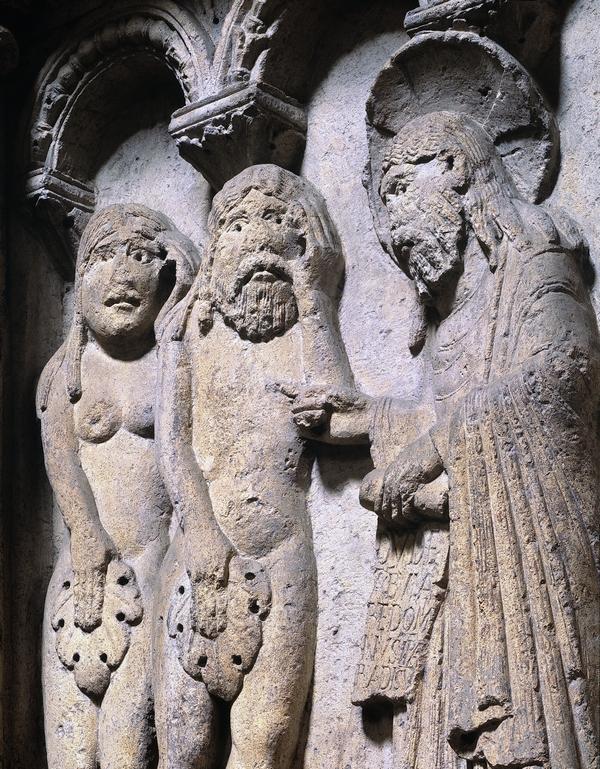 Wiligelmo, facciata del Duomo di Modena, lastra del Genesi XI sec