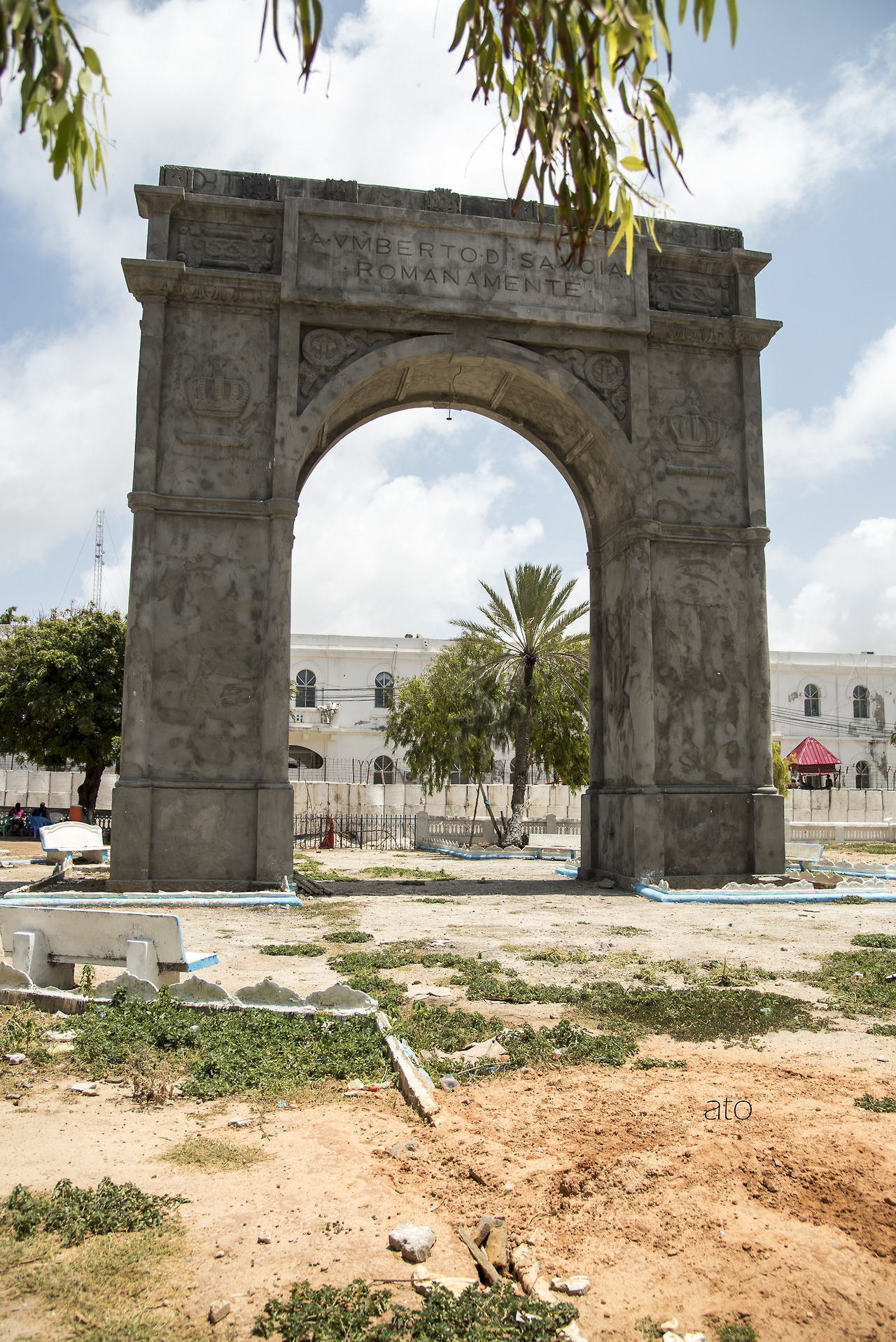 L'arco di trionfo eretto nel 1929 in onore del principe ereditario Umberto (Mogadishuimages)