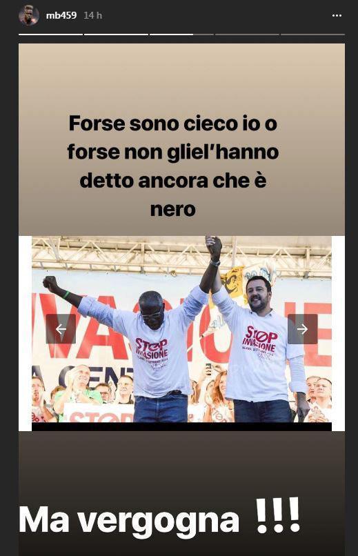 Il post su Instagram di Mario Balotelli