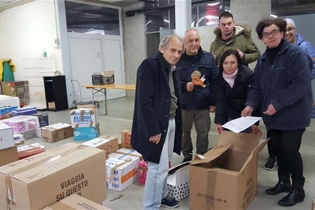 Alcuni degli operatori del progetto Gaf a Limbiate, in provincia di Monza