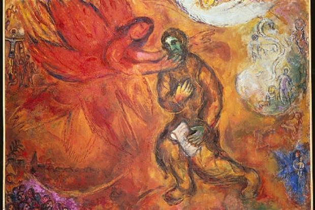 "Marc Chagall, ""Il profeta Isaia"" (1968)"