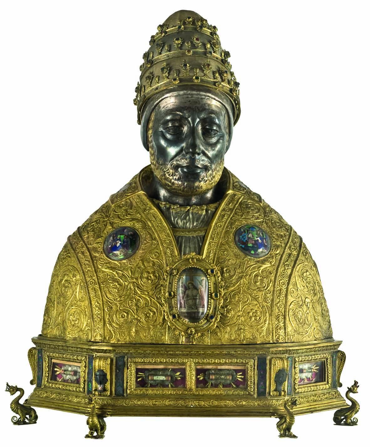 Antonio di Salvi, Reliquiario a busto di san Silvestro papa, 1497