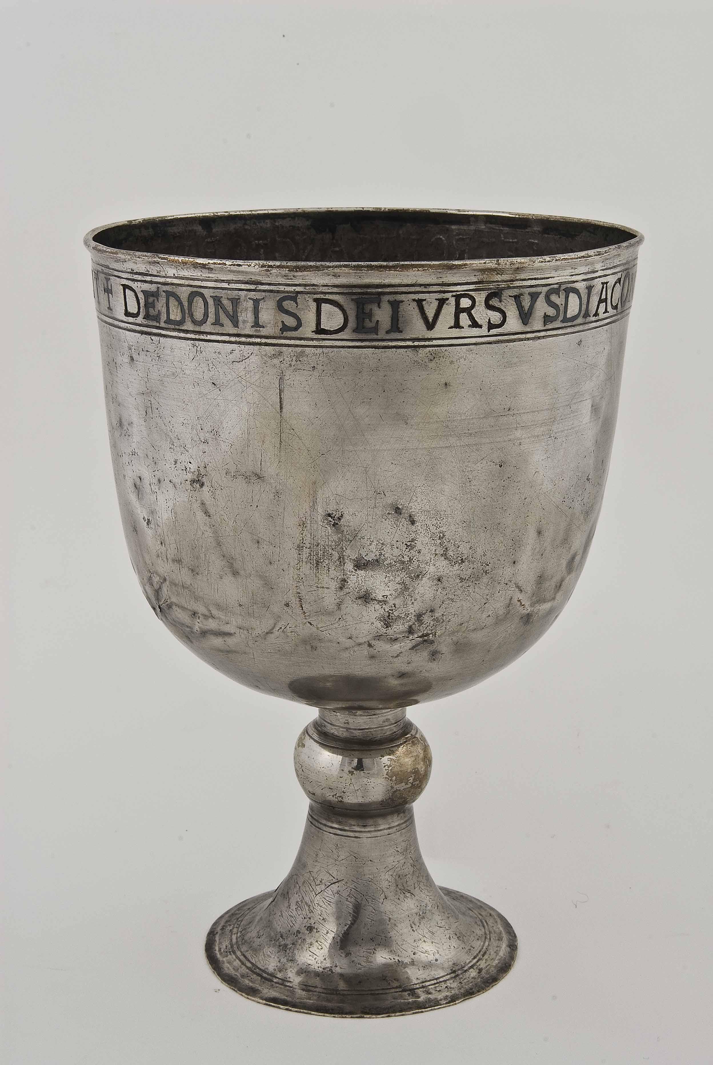 Calice del diacono Orso, VI secolo, argento