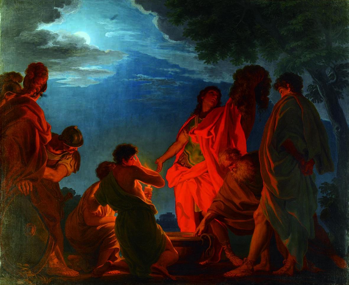 Domenico Corvi, 'Gedeone con il vello dell'agnello', 1762, olio su tela,