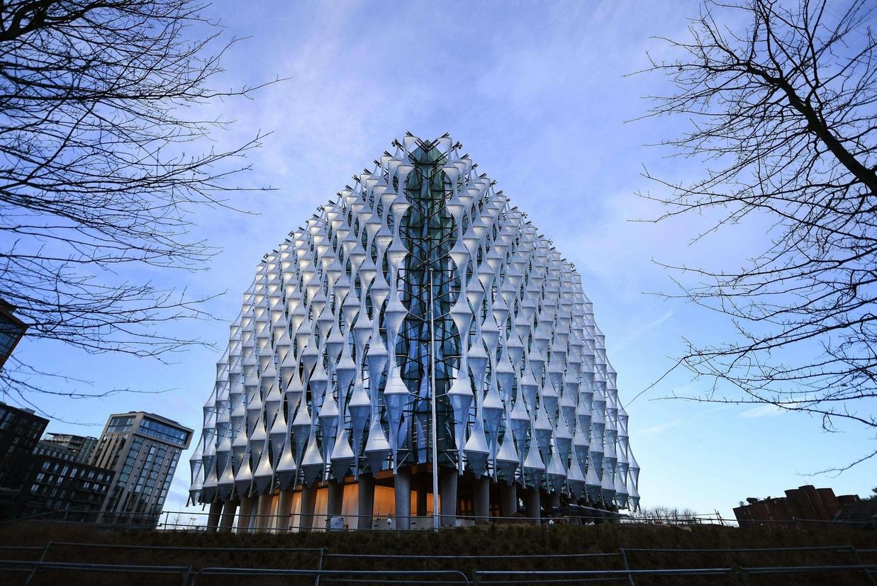 La nuova sede dell'ambasciata Usa a Nine Elms a Londra (Ansa)