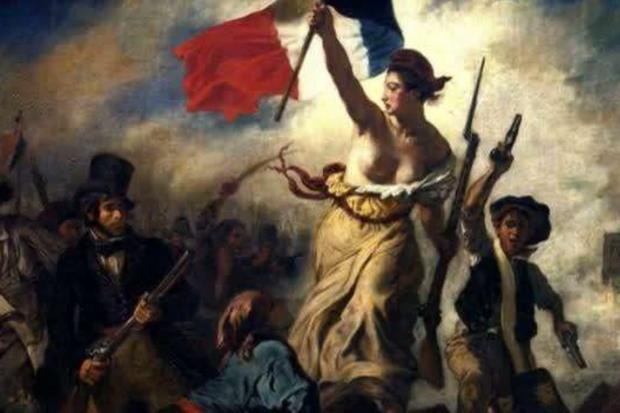 'La Libertà che guida il popolo' di Eugène Delacroix