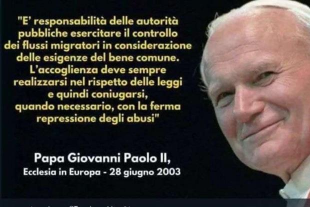 Frasi Sulla Famiglia Papa.Giovanni Paolo Ii Testimonial Di Salvini No Solo Disinformazione