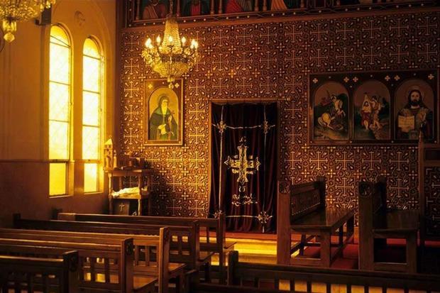 """Una chiesa a Bilbeis, il borgo dove si trova l'""""albero di Maria"""""""
