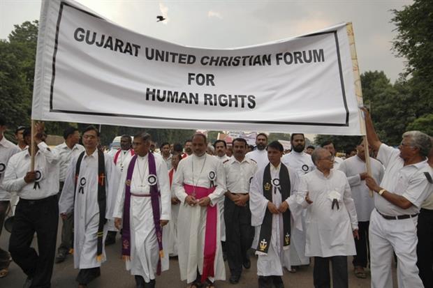 Manifestazione in difesa della libertà religiosa in India