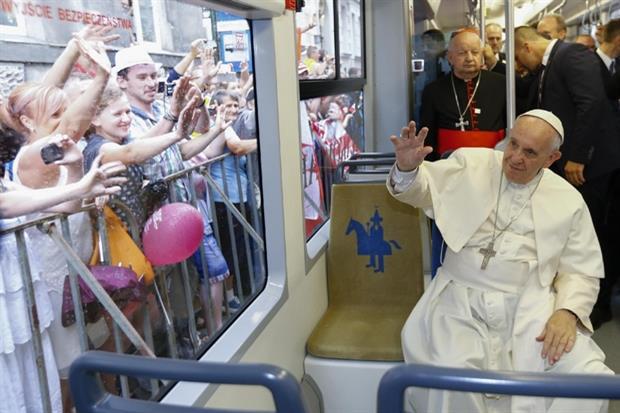 2016 il Papa a Cracovia per la Gmg. Nel 2013 era stato a Rio