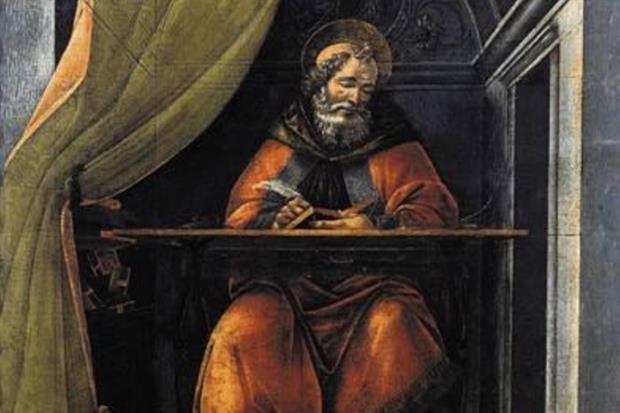 Sant'Agostino nel suo studio, di Sandro Botticelli