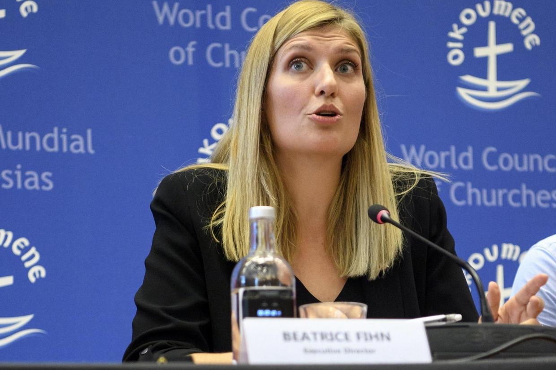 Beatrice Fihn, direttrice esecutiva di Ican premio Nobel per la pace (Ansa)