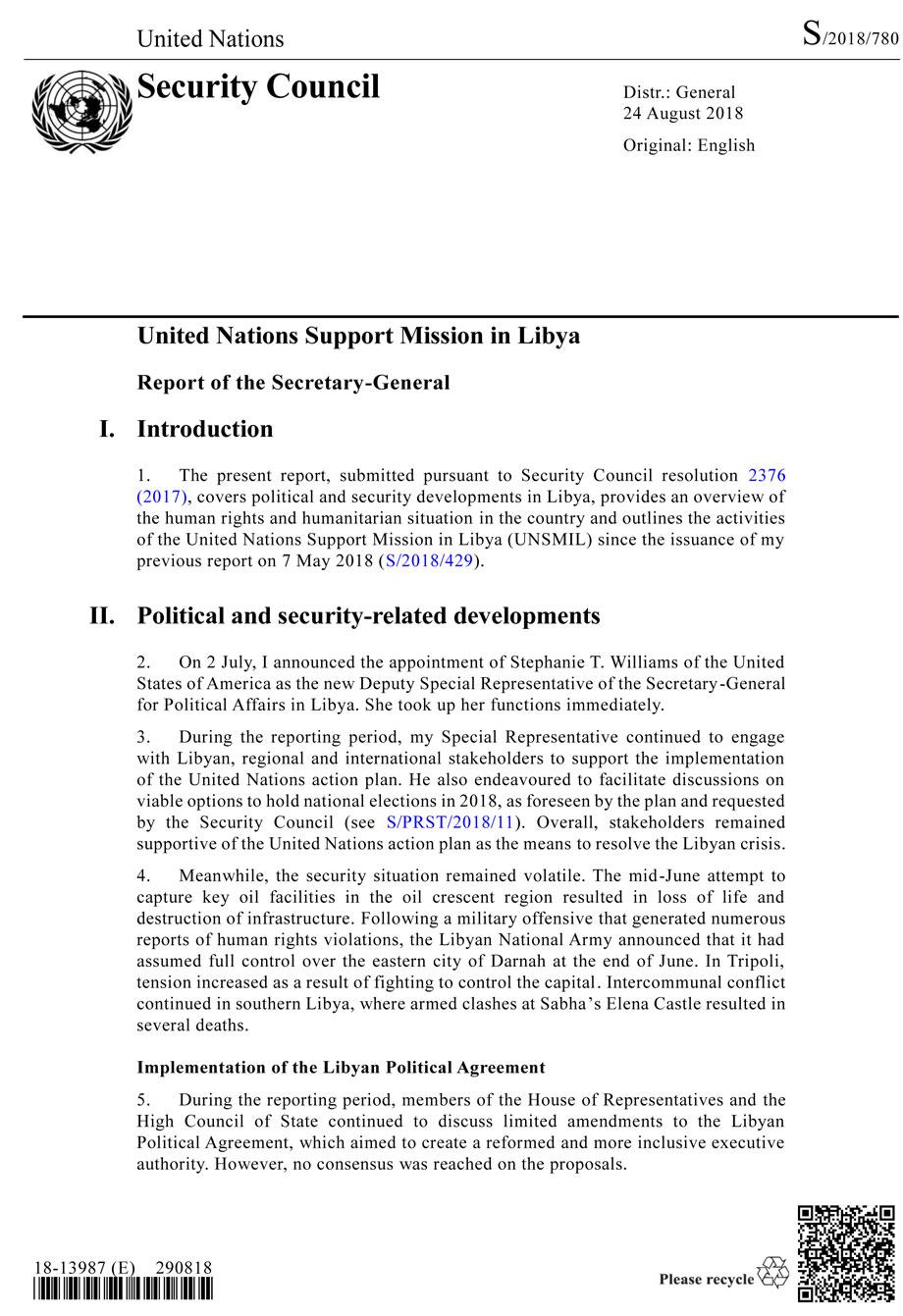 Il report con cui l'Onu accusa il governo libico