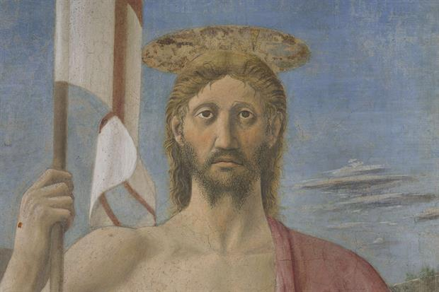 Il volto di Cristo nella Resurrezione di Piero della Francesca a Sansepolcro dopo il restauro