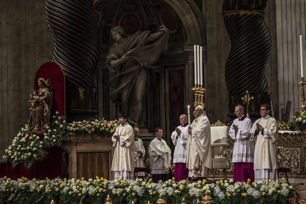 Un'immagine della celebrazione in San Pietro (Siciliani)