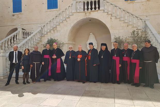 L'incontro del cardinale Gualtiero Bassetti con i patriarchi cattolici in Libano (foto Gambassi)