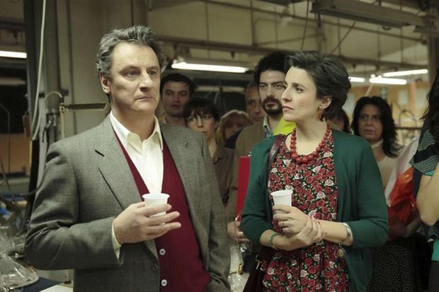 Giorgio Tirabassi e Michela Cescon in 'A testa alta. Libero Grassi' in onda su Canale 5 il 14 gennaio
