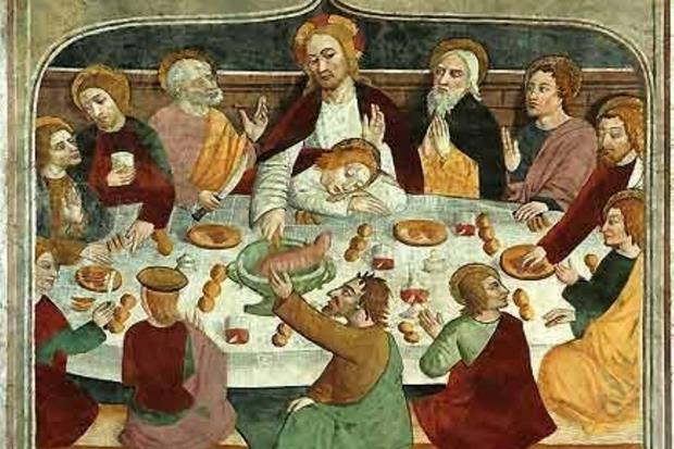 L'Ultima Cena, opera di Giovanni Canavesio