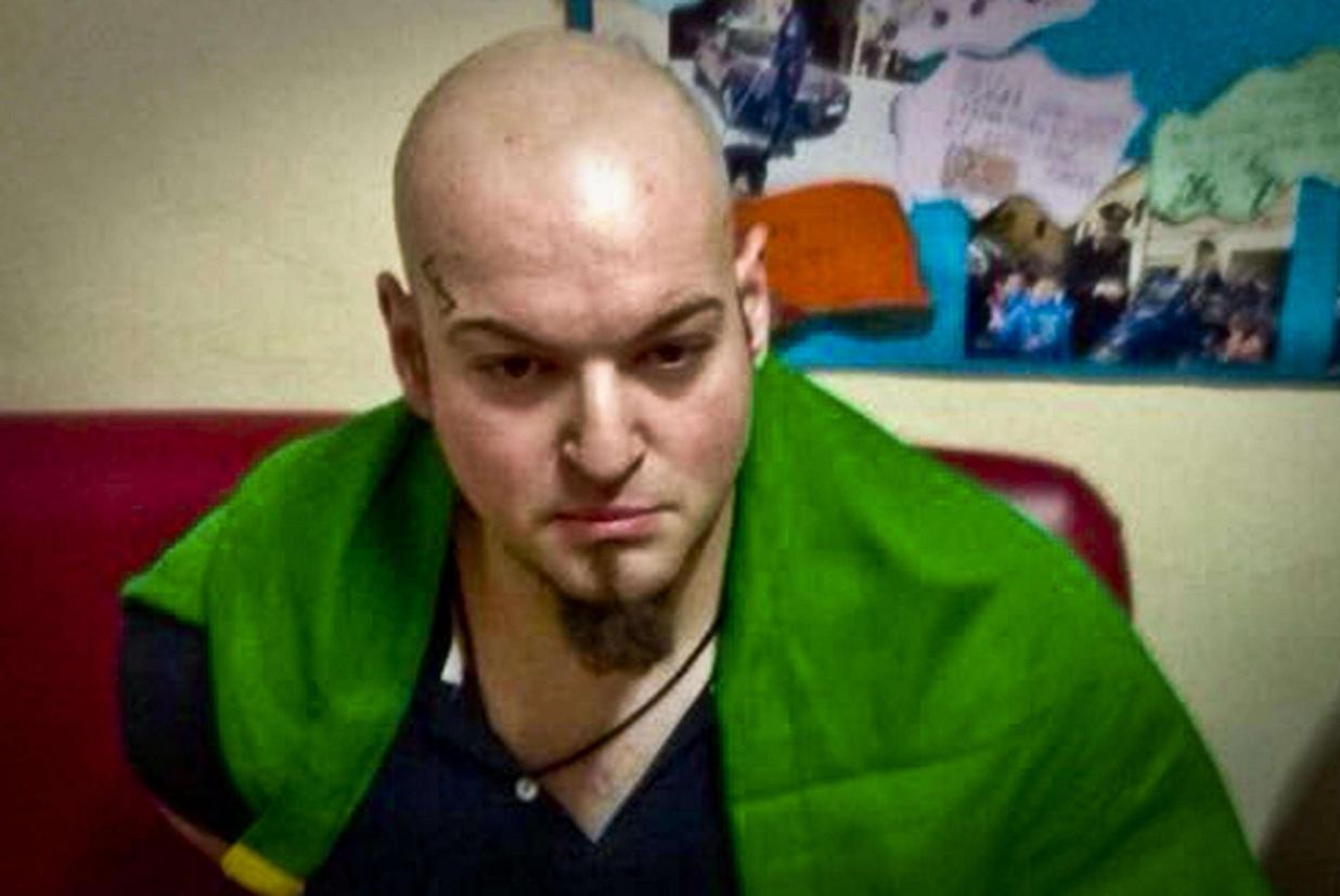 Luca Traini, fermato per il raid xenofobo a Macerata (Ansa)
