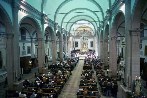 L'interno del Duomo di Belluno