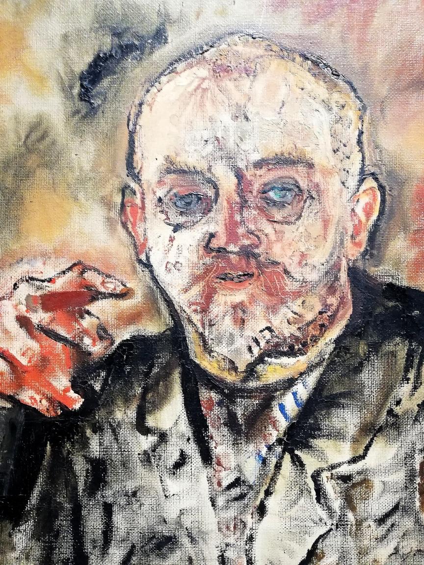 """Oskar Kokoschka, """"Ritratto di Paul Scheerbart"""" (1910, particolare)"""